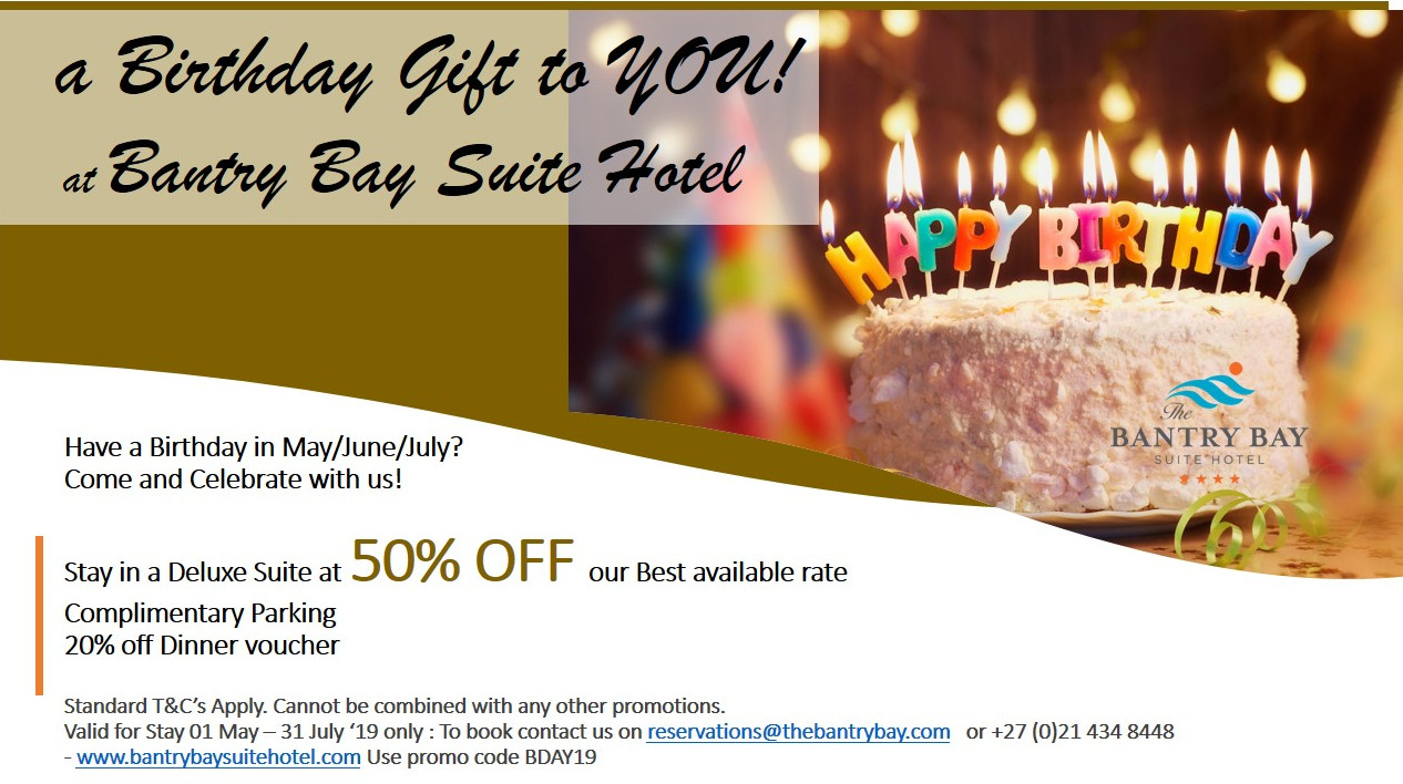 Bantry Bay Suite Hotel Birthday Special