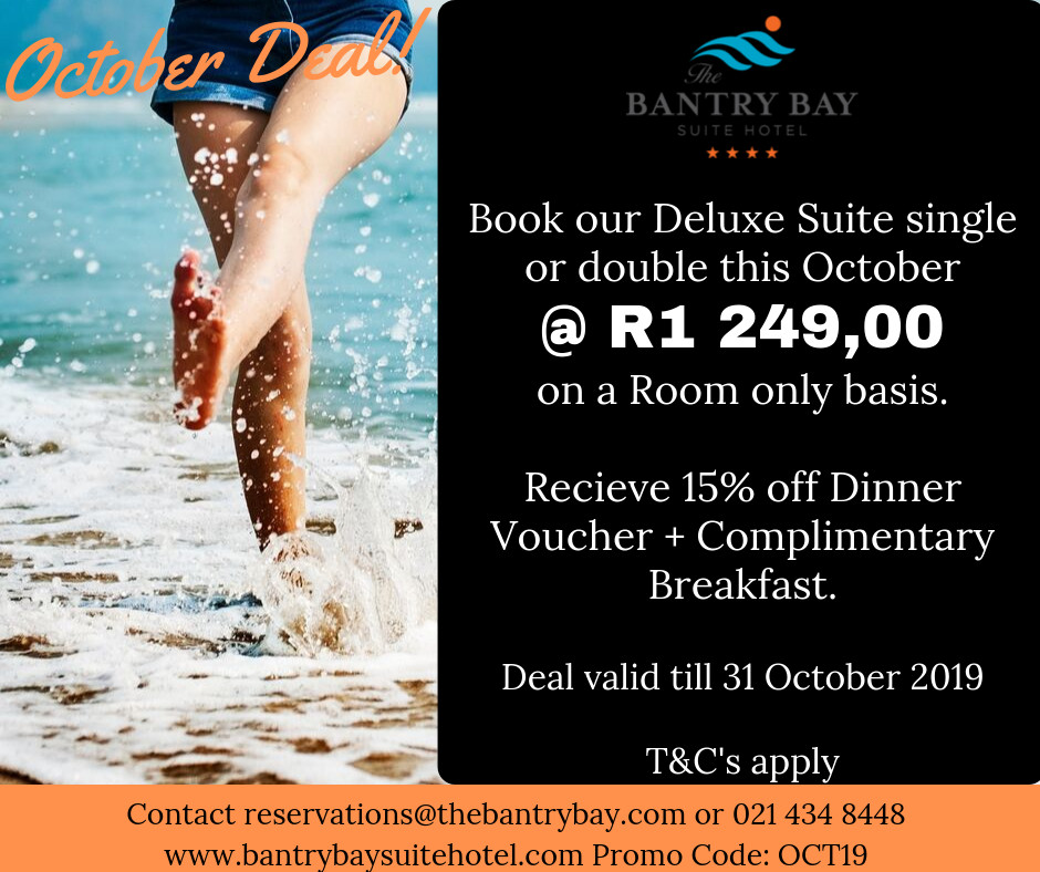 October Deal at The Bantry Bay Suite Hotel